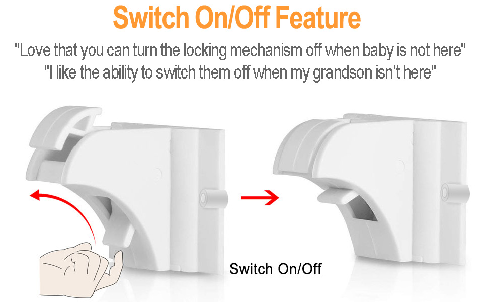 Switch on off function for magnetic cabinet locks