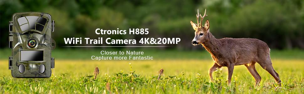 Ctronics WiFi Trail Camera 4K & 20MP Wildlife Monitoring