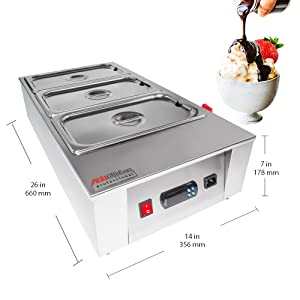 Chocolate Melting Pot, 3 tanks 12 kg, digital control