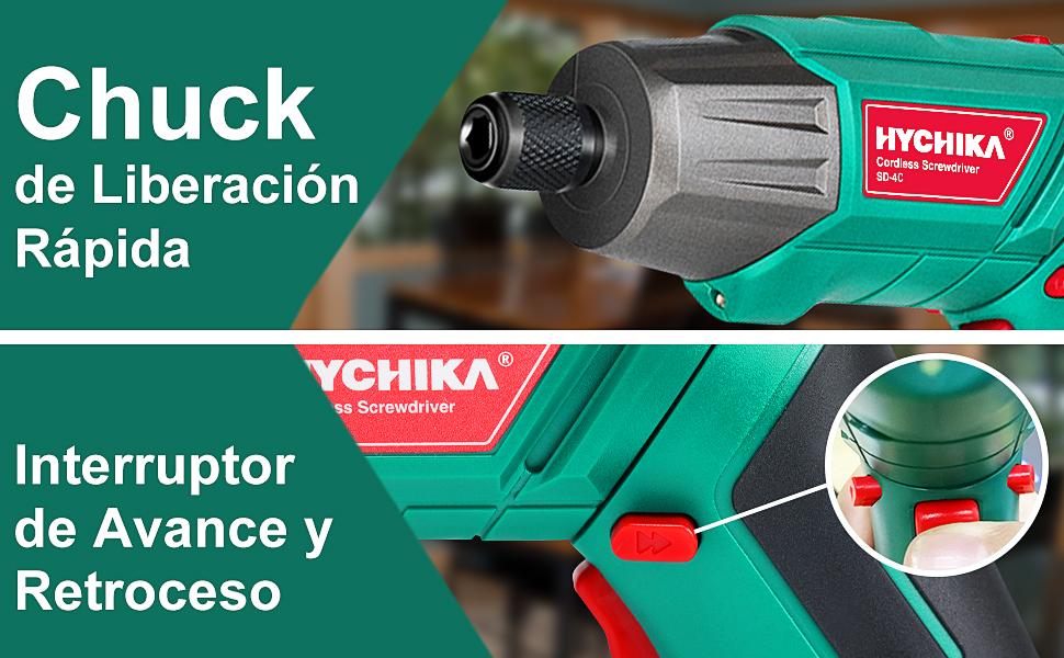 juego de destornillador eléctrico hychika 3.6v atornillador bateria 12v taladro atornillador 3.6v