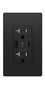 smart power wall plug outlet with usb-c
