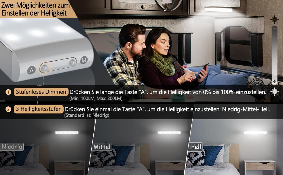 Éclairage LED avec détecteur de mouvement pour armoire
