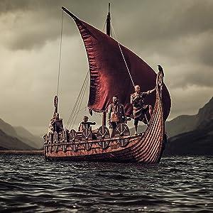Mythrojan viking longship drakkard norsman morsmen raider barbarian bandit warrior movie prop props