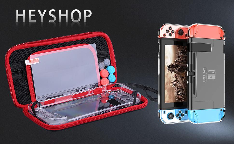 HEYSTOP Nintendo Switch Accesorio, Funda para Nintendo Switch + ...