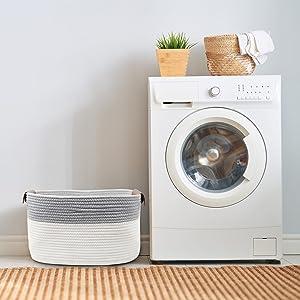et blanket cotton rope storage basket dog toy bins nursery laundry basket white basket baby storage