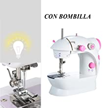 KKmoon Máquina de Coser,Mini Máquina de Coser Portátilil,Máquina ...