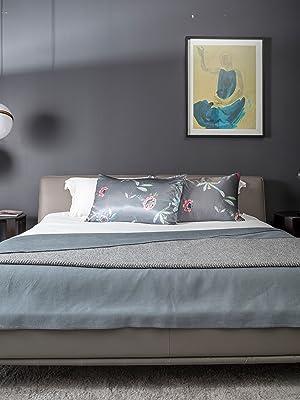 grey pillowcase