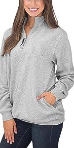 1/4 zip sweatshirt women