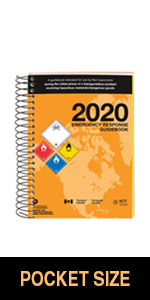 "2020 Emergency Response Guidebook (ERG) - English - 4"" x 5.5"" (Pocket Size), Spiral Bound"