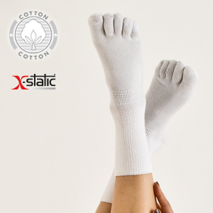 fantasmini per diabete, calzini invisibili biabete, calzini con dita, calze a guanto