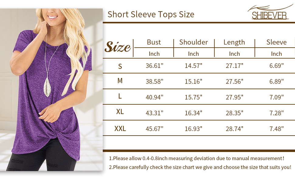 women short sleeve tops