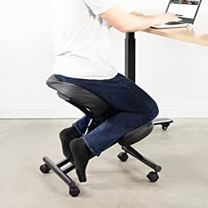 DRAGONN Ergonomic Kneeling Chair, Adjustable Stool for Home and Office - Improve Your Posture