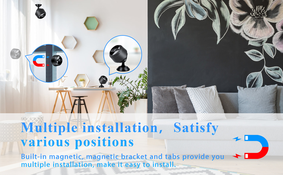 Multiple installation, Satisfy various positions