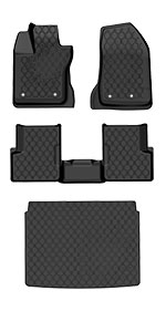 Includes Front Durable TPE All Weather Custom Fit Slush Mat Rear and Cargo Slush Mat Full Set Liners OEDRO Floor Mats /& Cargo Liners Set for 2017-2020 Jeep Compass