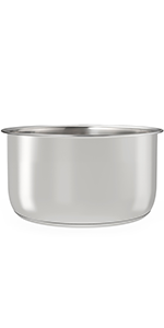 Amazon Com Goldlion Stainless Steel Inner Pot Compatible With Ninja Foodi 6 5 Quart Accessories Replacement Insert Liner Kitchen Dining