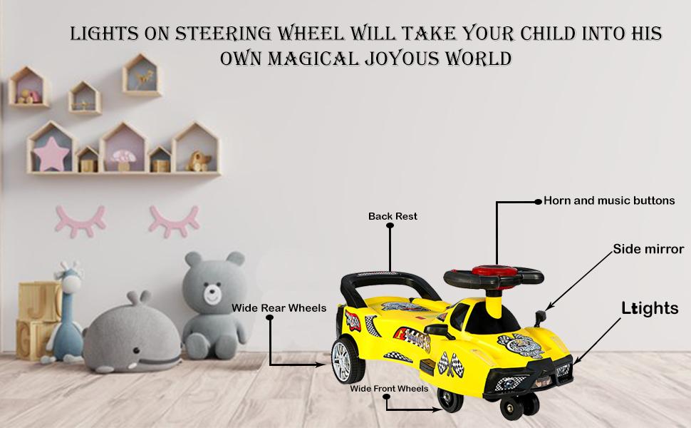 babygo swing magic car ride on