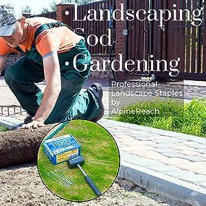 Landscaping, Sod, Gardening - AlpineReach Professional Landscape Staples