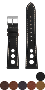 Leather Rally Strap with Stitching
