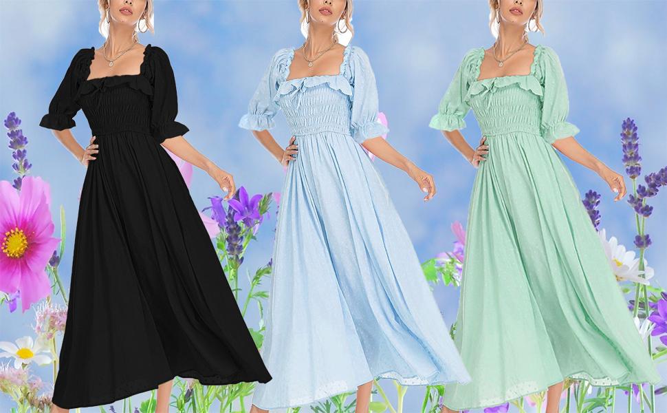 flowy swing long dress
