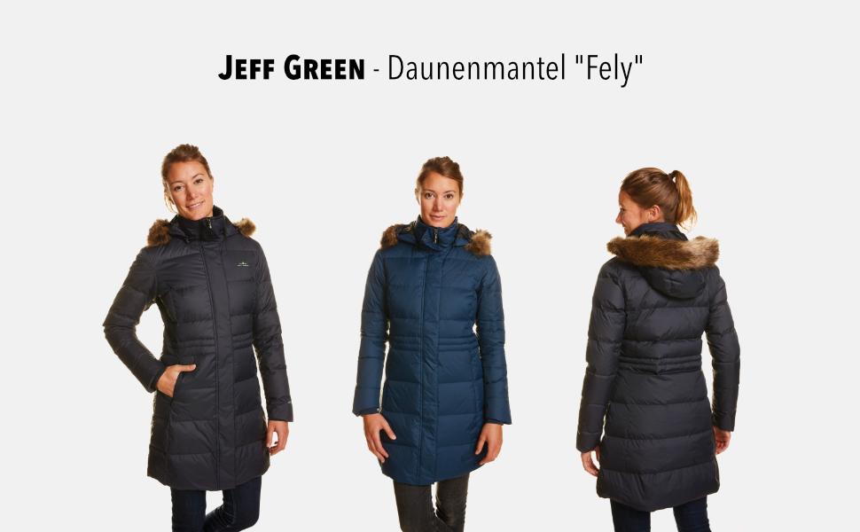 Jeff Green Damen Atmungsaktiver Wasserabweisender Daunen Outdoor Parka Fely