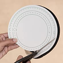 cutting template square round cut to fit universal size
