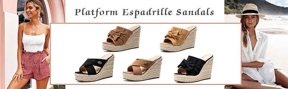 beach sandals slip on espadrille wedges sandals open toe platform sandals slide bohemia sandals