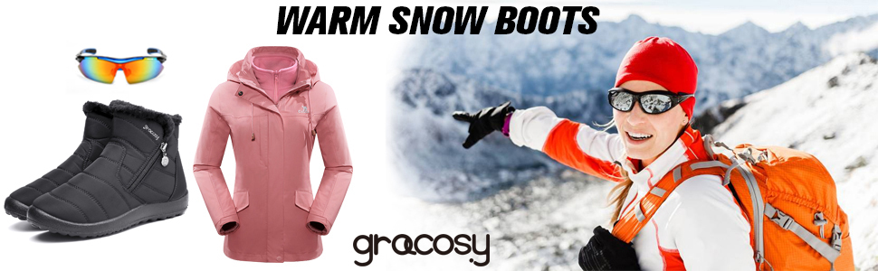 gracosy boots for women women snow boots winter boots for women winter boots