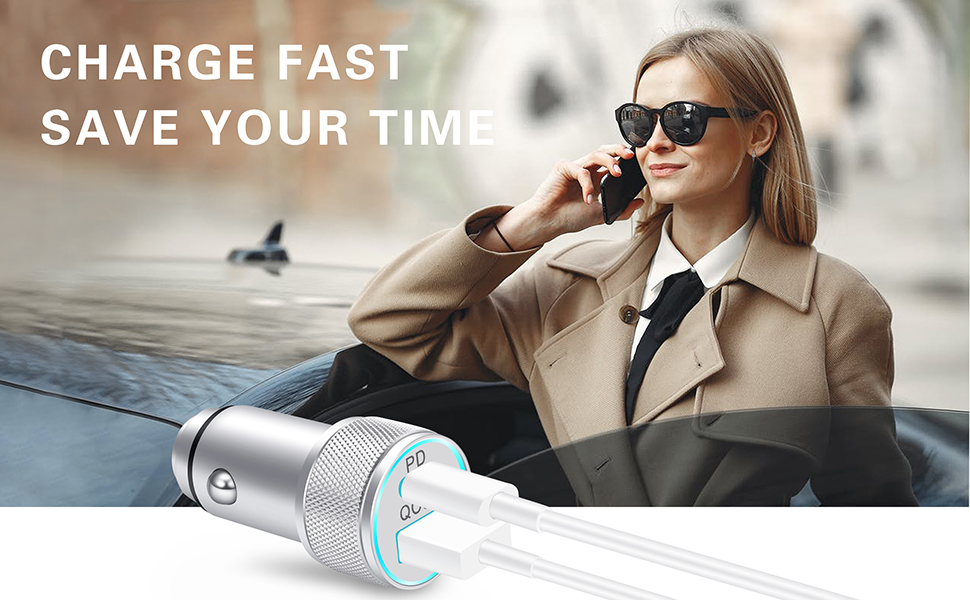fast car charger with cable
