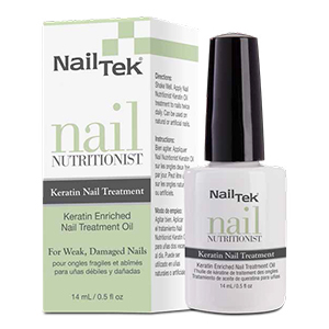 Nail Tek Nail Nutritionist, Keratin Enriched Nail Treatment Oil for Weak and Damaged Nails, 0.5 oz