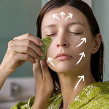 gua sha lymphatic drainage massage tool stimulate blood circulation anti aging jade stone face body