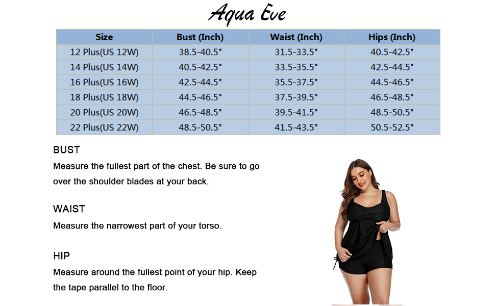 Women's Plus Size Flowy Tankinis Two Pieces V Neck Cross Back Swimsuits with Shorts