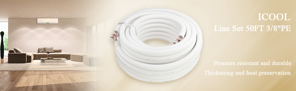 mini split line sets air conditioner line set insulated copper 50 ft lineset linesets cover pipes