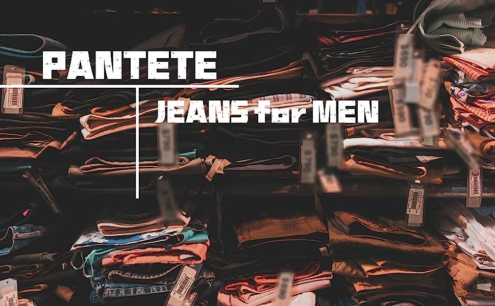 Pantete Mens Slim Fit Jeans 7 Pockets Stretch Skinny Denim Pencil Pants Nova Fashion