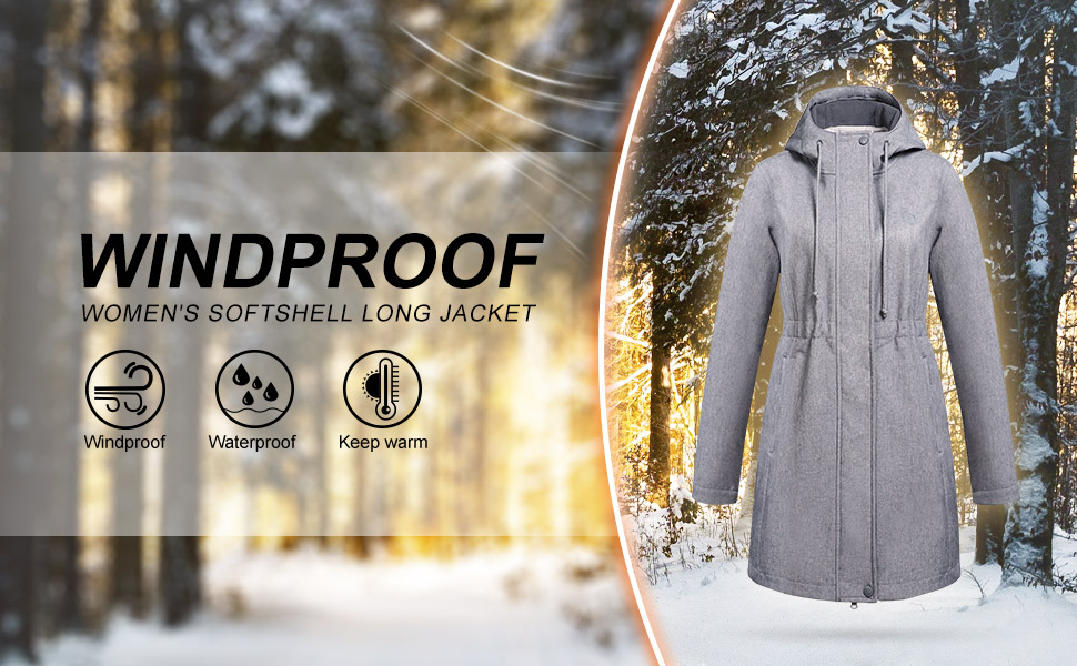 outdoor ventures windproof softshell long jacket