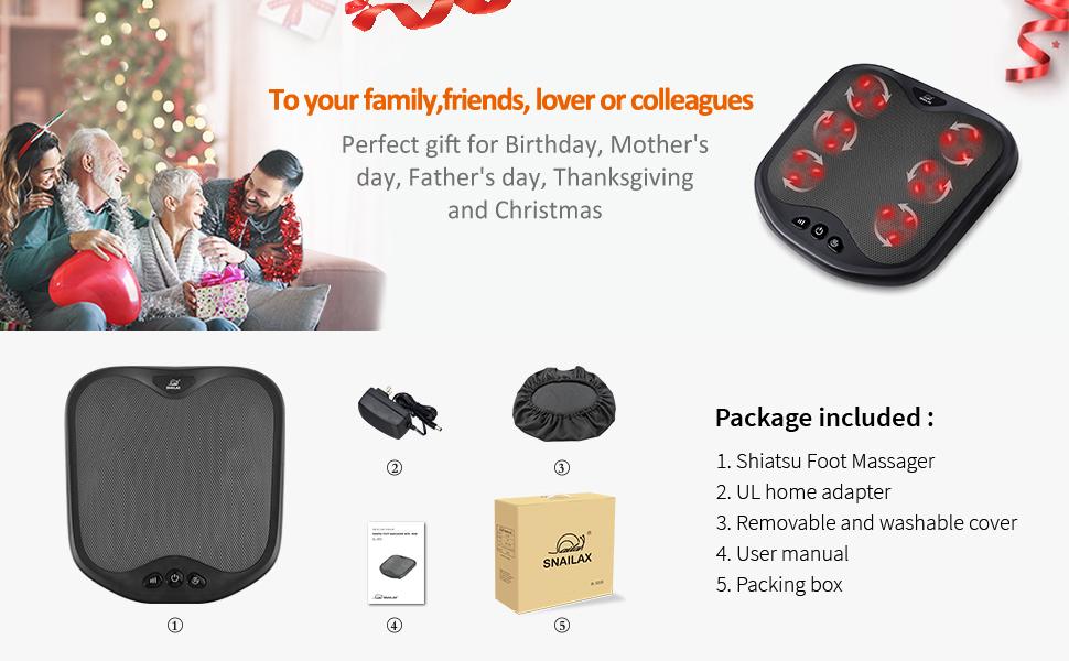 foot massager as ideal gift for dad mom lovers friends girlfriend boyfriend