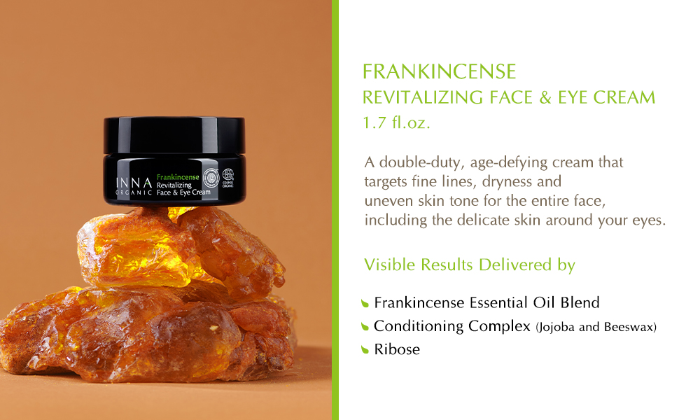 frankincense essential oil cream inna organic beauty clean revitalizing anti-aging tightening smooth