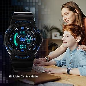 Kids Gifts Sports Watch Multi Function Waterproof Quartz Watch