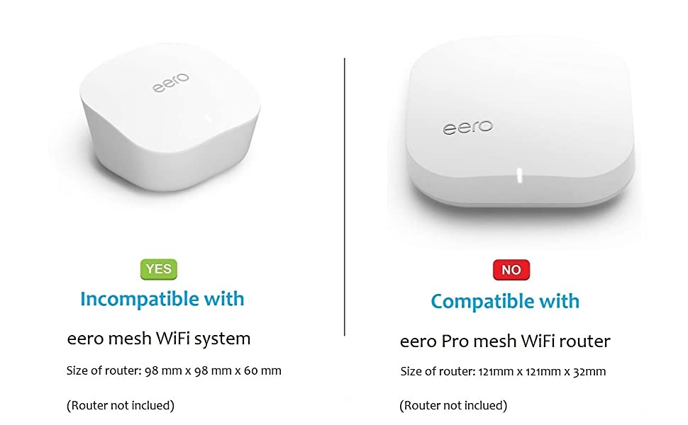Mount for eero mesh WiFi Enlarging Coverage Reinforced eero Mount No Messy Wires Space-Saving Outlet Bracket for eero mesh WiFi System Router 3 Pack