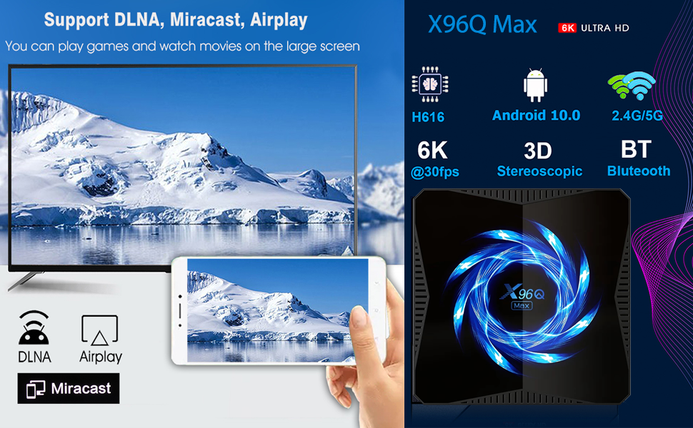 X96Q Android 10.0 Android Smart Box