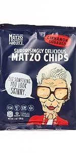 Cinnamon Sugar Chips Matzo Kosher Sweet amp; Salty Sugar Free Dairy Free Nut Free Snack Size Grab amp; Go