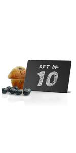 Mini Chalkboard Signs for Food