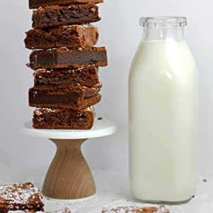 almond milk brownies