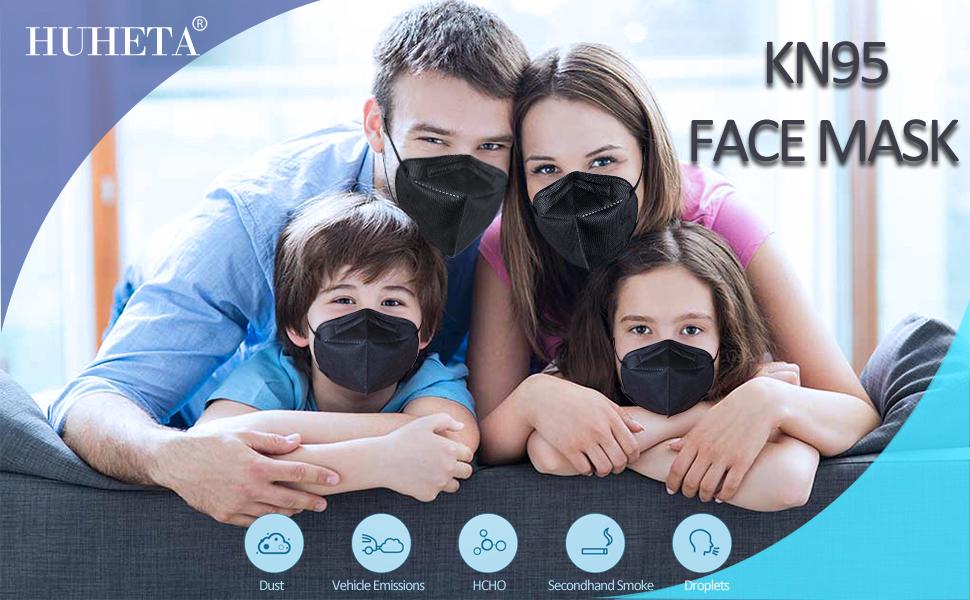 kn95 black face mask