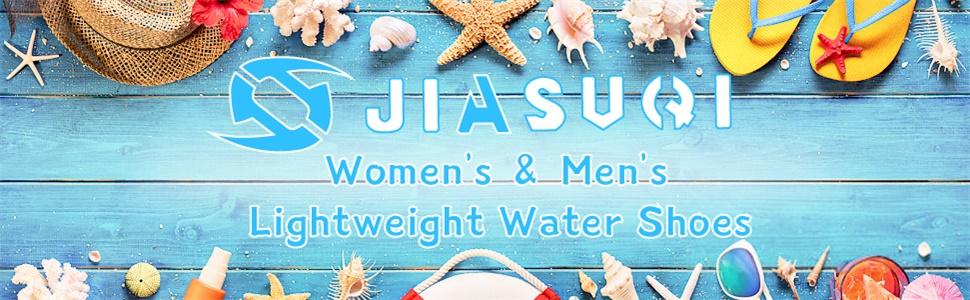 JIASUQI Lightweight Slip on Beach Walking Pool Athletic Water Shoes for Women Men