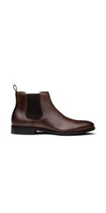 Dunross amp; Sons Jayden Men's Leather Dress Chelsesa Boot