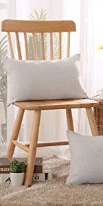 Faux linen pillow covers cushion throw pillow covers set of 4 sofa bedroom