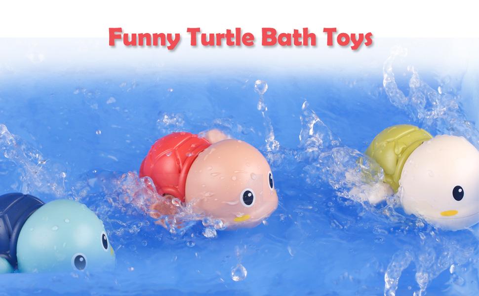 fun turtle bath time