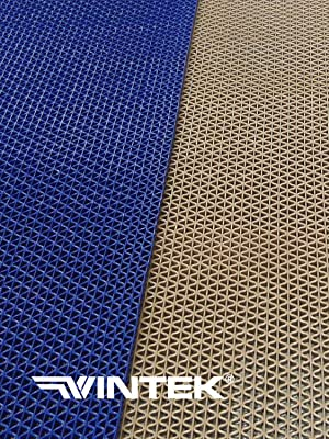 3 x 6, Tan VinWave Mini 1//4 thick Vinyl PVC Wet Area Floor Mat for Swimming Pool Shower Sauna SPA Bath Tub Bath Splash Matting Water Drain Wet Flooring Anti-Slip Indoor//Outdoor by MattingExperts