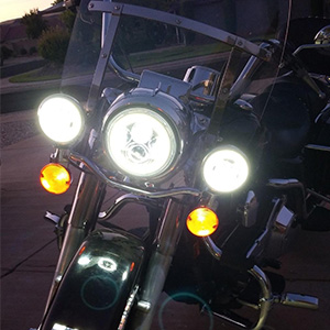 electra glide led headlight