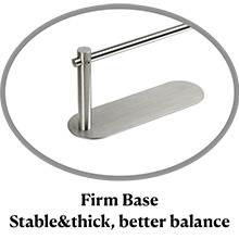 Base firme (estable y gruesa, mejor equilibrio)